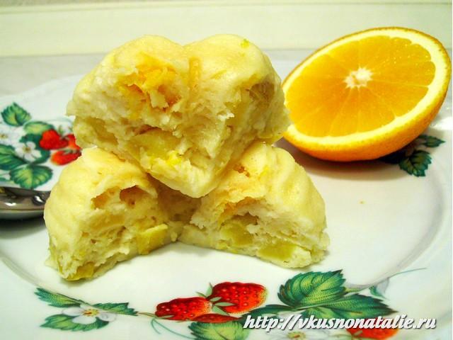 запеканка творожная с яблоками и апельсинами