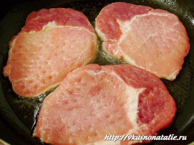 отбивные из свинины с грибами и сыром