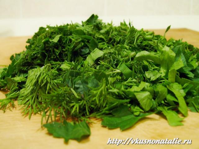 зелень для супа с фрикадельками