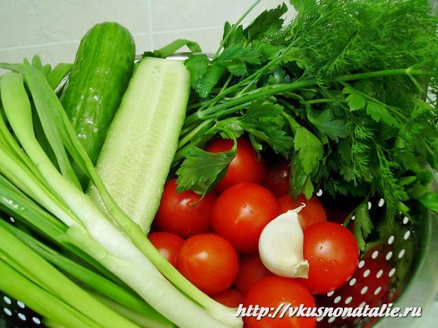 самый простой салат из овощей