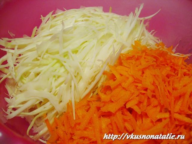 диетический салат из капусты с чечевицей