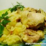 Курица в духовке с картошкой – низкокалорийное рагу