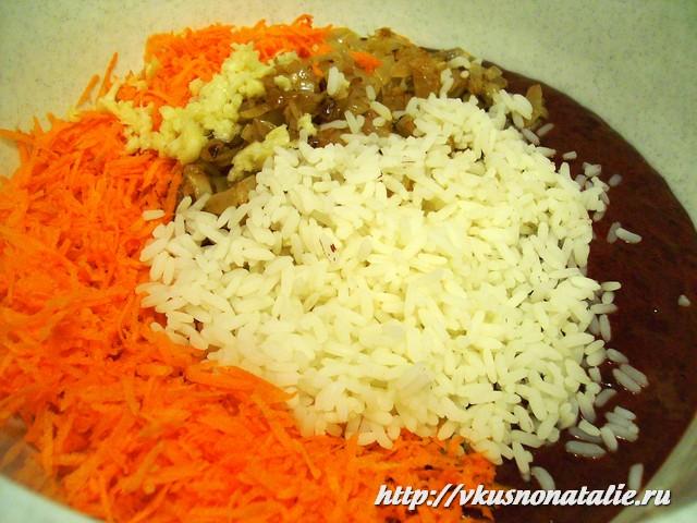 печеночная запеканка с рисом