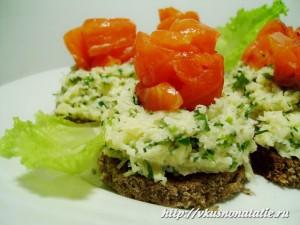 Сырная закуска из слабосоленой семги