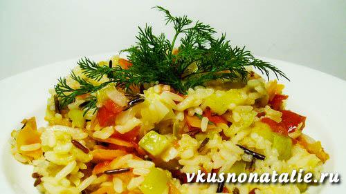 рис с овощами в мультиварке готов! рецепт овощного плова