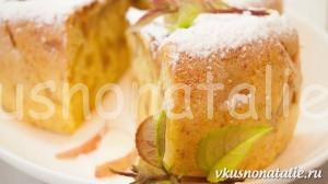 Пышная шарлотка с яблоками в мультиварке – рецепт для лентяек