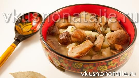 Грибной суп из мультиварки