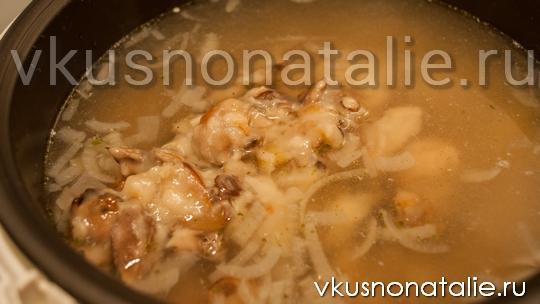 рецепт супа из свежих грибов в мультиварке