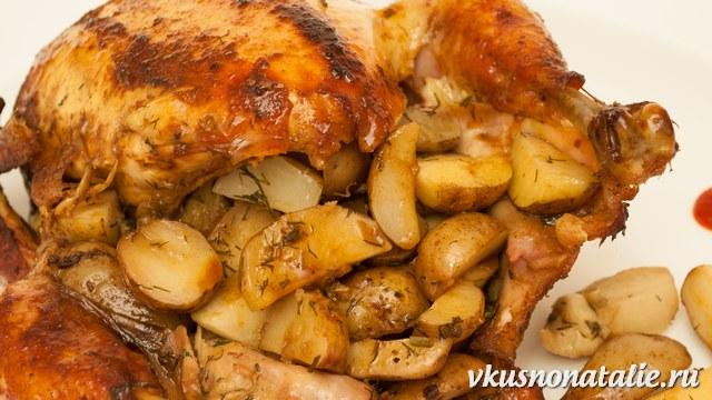 вкусная курица приготовленная в духовке с картошкой