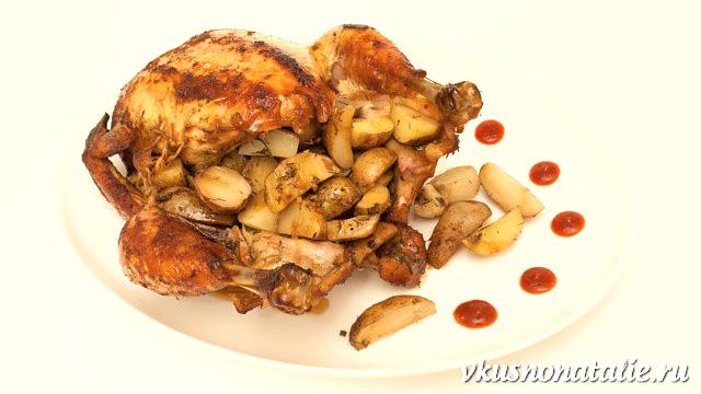 курица в духовке с картошкой готова