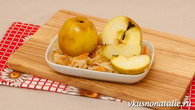 моченые яблоки в капусте рецепт антоновки
