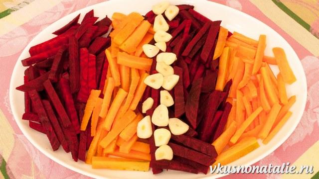 маринованная капуста со свеклой и морковью быстрого приготовления