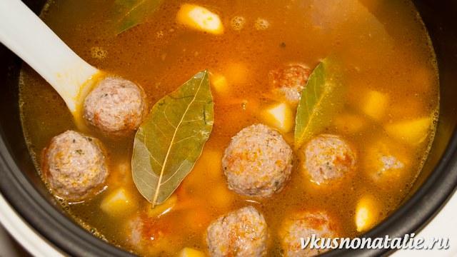 суп из фрикаделек с рисом рецепт с фото