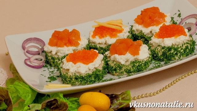 бутерброды на праздничный стол рецепты с фото с красной рыбой