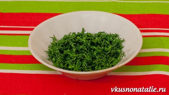 зелень для бутерброда с семгой или икрой