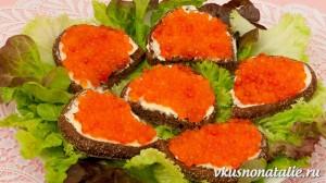 Бутерброды с красной икрой – оригинальные и праздничные