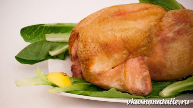 курица запеченная на соли