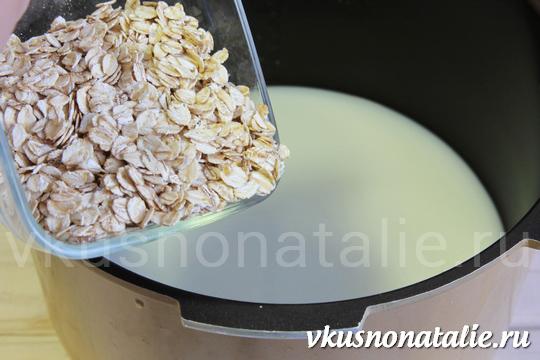 рецепт овсяной каши на молоке