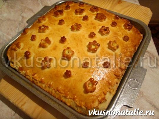 пирог с зеленью и брынзой
