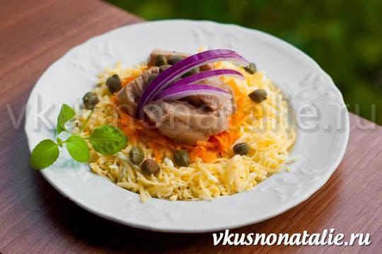 салат из печени трески консвервированной