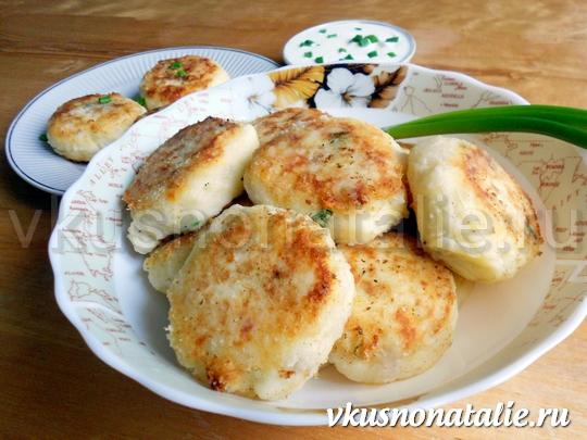 сиченики картофельные с сыром и беконом