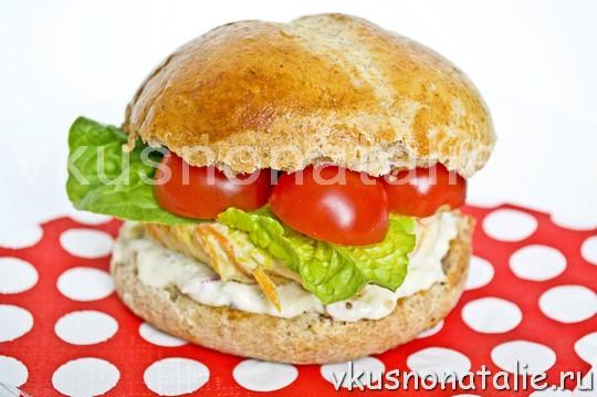 как сделать чикенбургер в домашнихусловиях