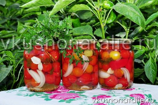как мариновать помидоры черри