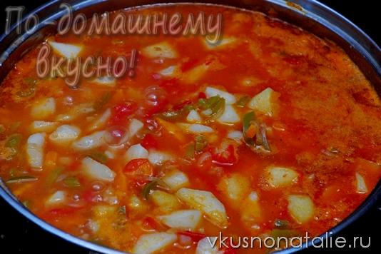 овощное рагу с баклажанами и картофелем рецепт
