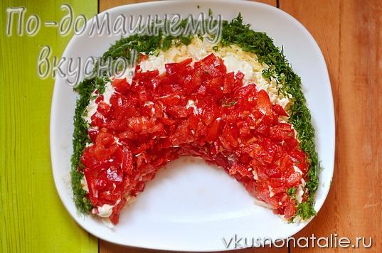 салат арбузная долька с курицей пошаговый рецепт