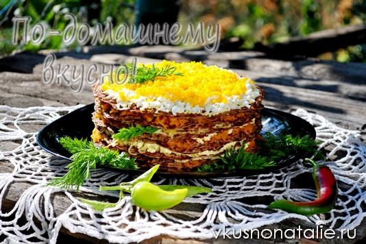 печеночный торт рецепт с фото пошаговый