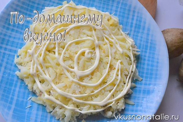 салат снеговик рецепт