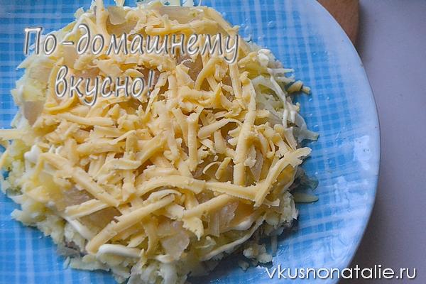 рецепт салата снеговик
