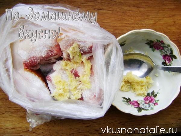 соленое сало с чесноком и специями