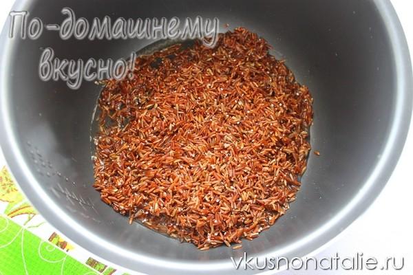 красный рис в мультиварке