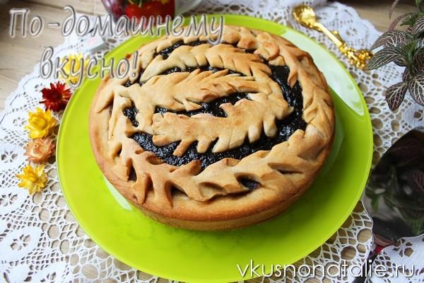 пошаговый рецепт постного пирога с повидлом