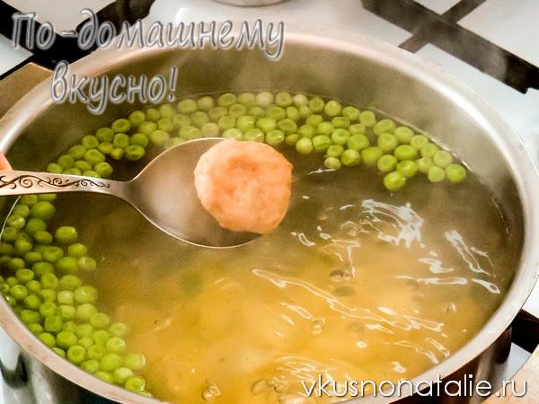 пошаговый рецепт супа с тефтелями