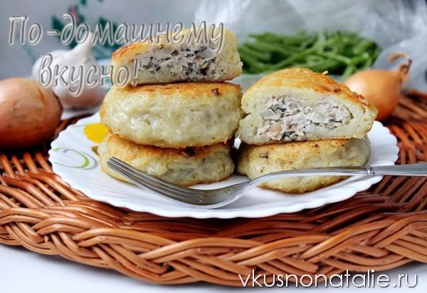картофельные зразы с мясом и грибами рецепт