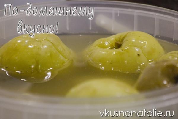 яблоки моченые с горчицей