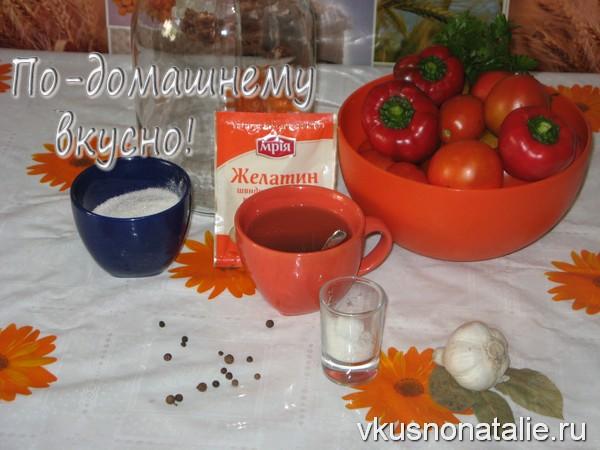 маринованные помидоры в желатине