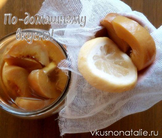 персиковая настойка с лимоном рецепт