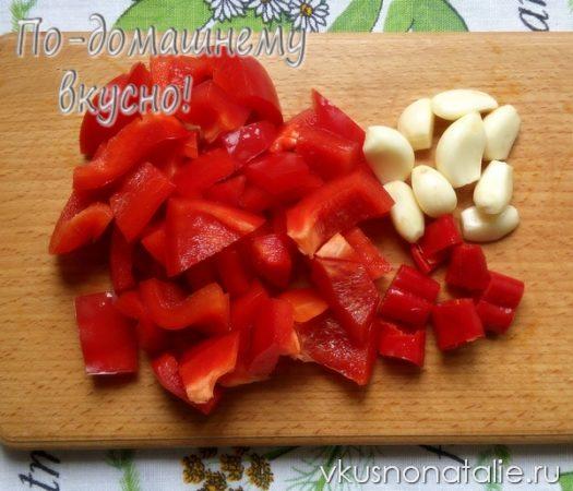 салат огонек из баклажанов на зиму рецепт с фото