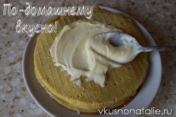 Рецепт крема со сгущенкой для вафельных коржей