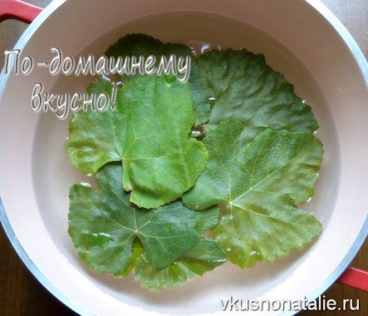 виноградные листья на зиму рецепт