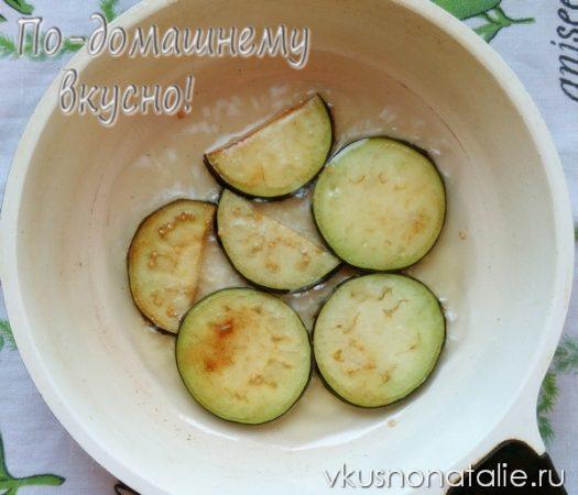 баклажаны жареные с чесноком пошаговый рецепт на зиму
