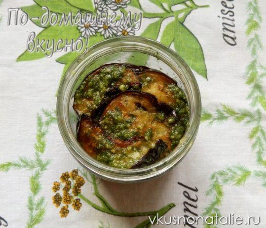 баклажаны жареные с чесноком на зиму рецепт с фото