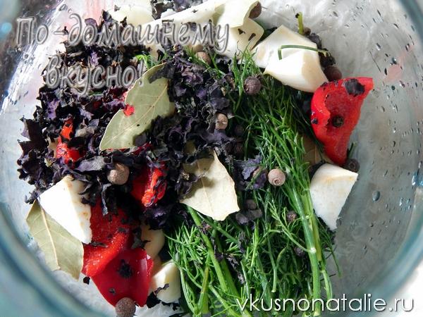 маринованные зеленые помидоры с базиликом рецепт