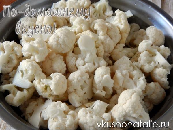 цветная капуста по корейски пошаговый рецепт