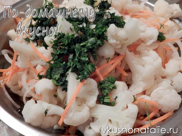 цветная капуста по корейски рецепт с пошаговыми фото
