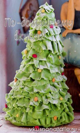елка из мастики