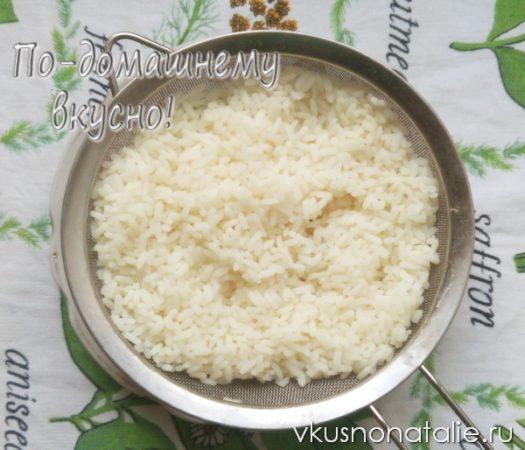 рисовый салат с курицей и сыром